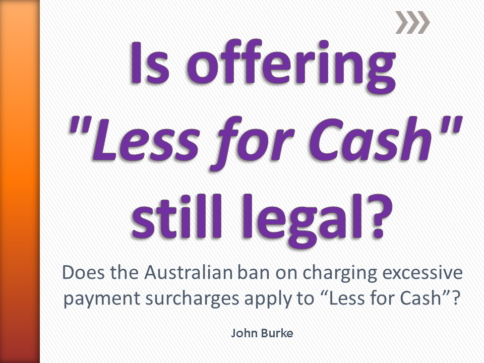 John Burke Less for Cash Article